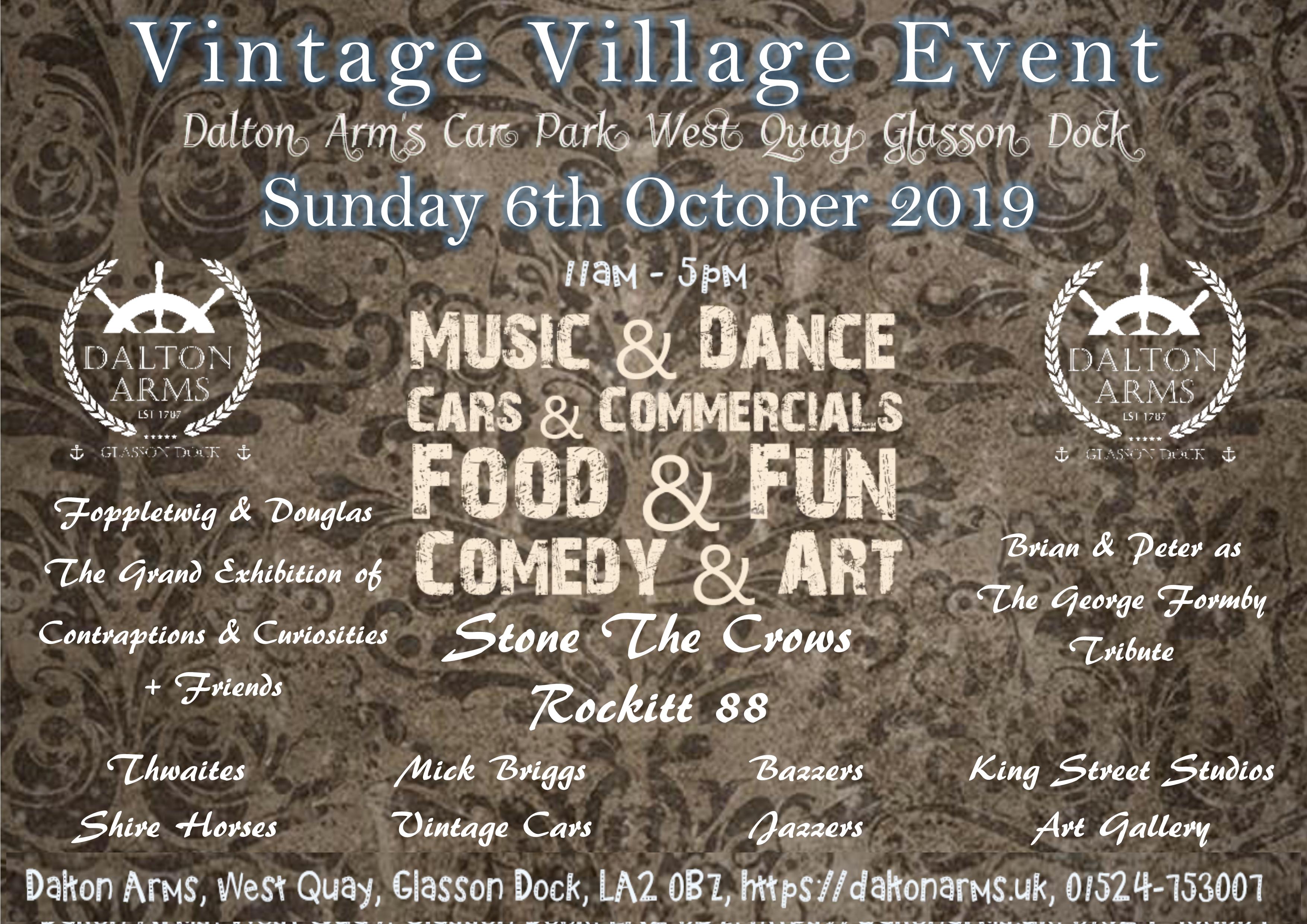 Vintage Village Event –  6th October 2019