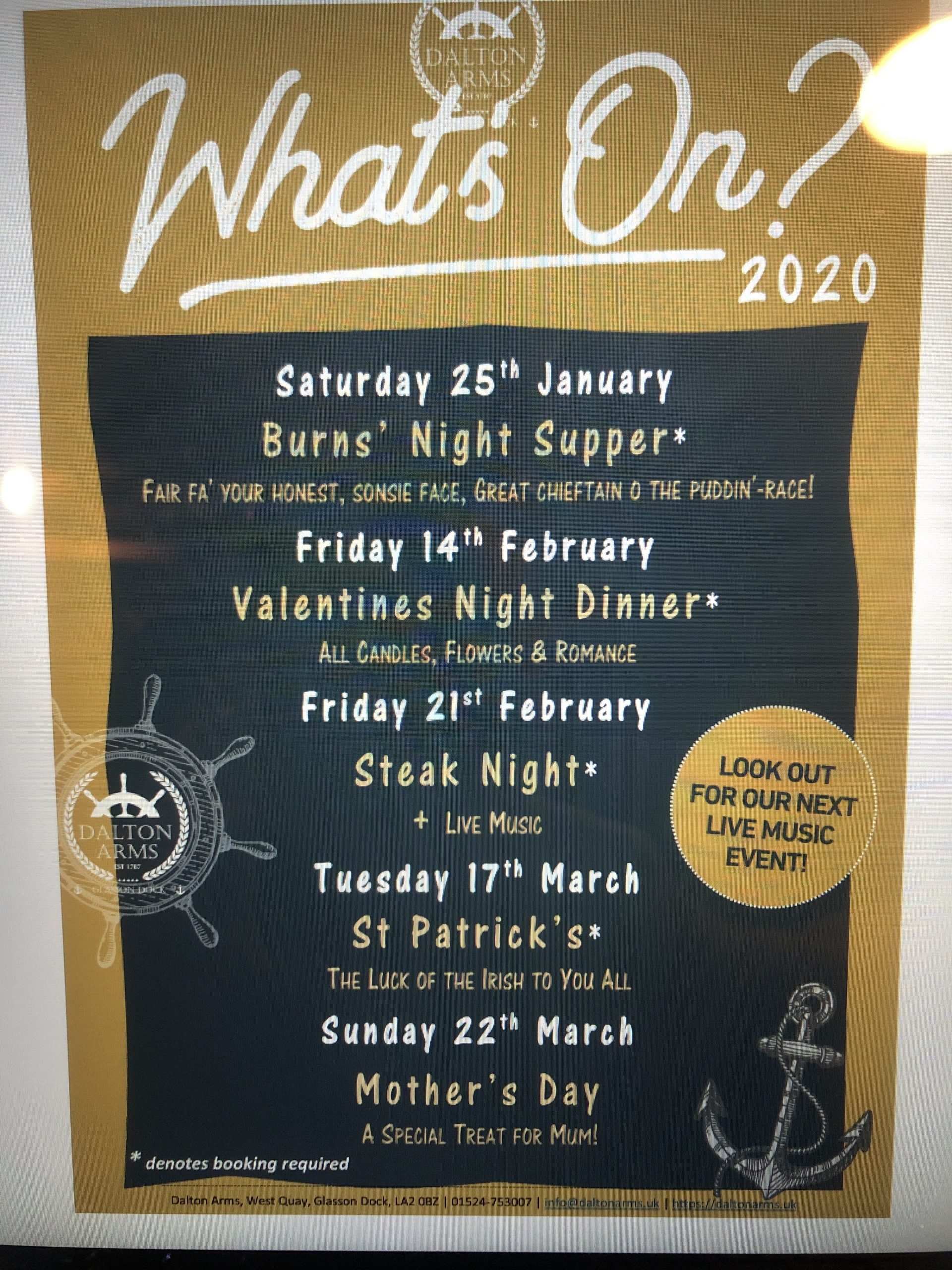 Steak Night Friday 21st February 2020