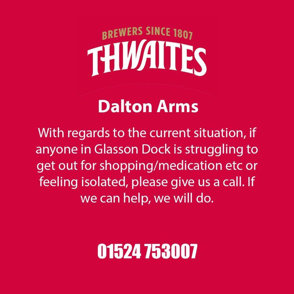 Dalton Arms Support for our Community